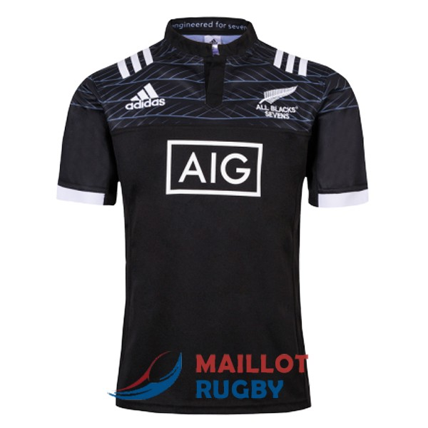 all blacks 7s rugby maillot domicile 2019
