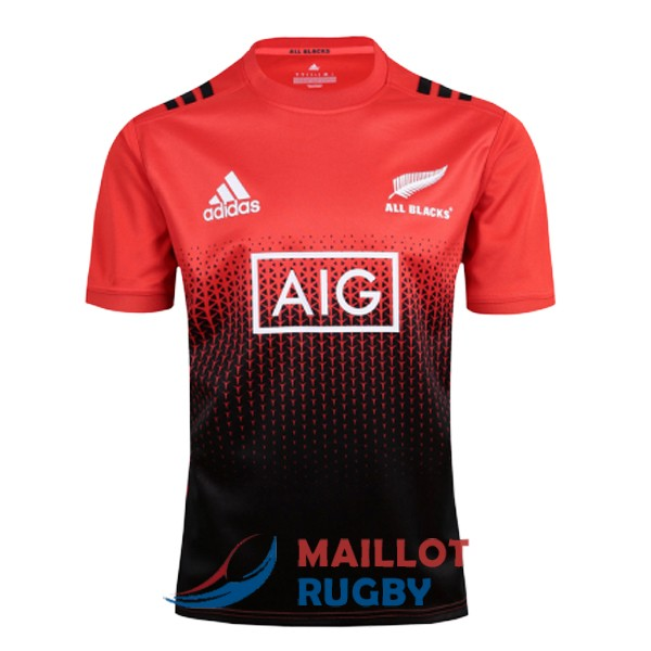 all blacks rugby maillot entrainement rouge noir 2017