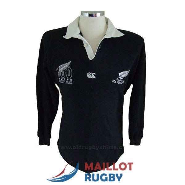 all blacks rugby maillot manches longue rerto 1992