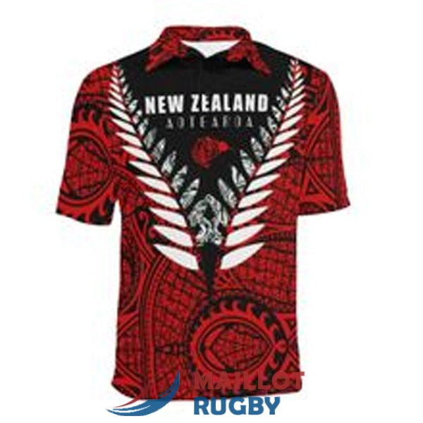 all blacks rugby polo rouge 2021
