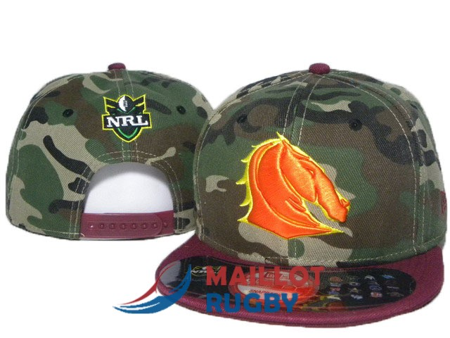 brisbane broncos NRL casquettes camouflage rouge