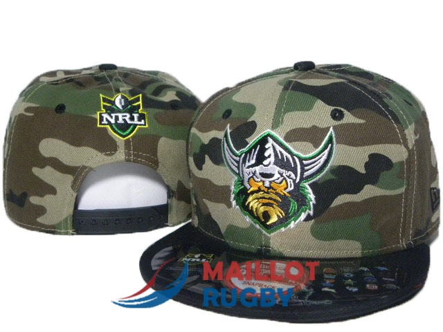 canberra raiders NRL casquettes camouflage noir