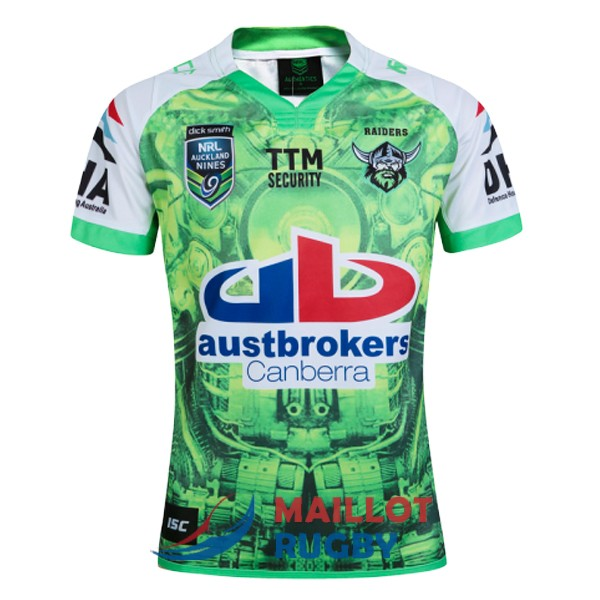 canberra raiders rugby maillot edition special territoire auckland 9s 2016
