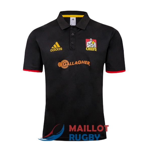 chiefs rugby polo noir 2019