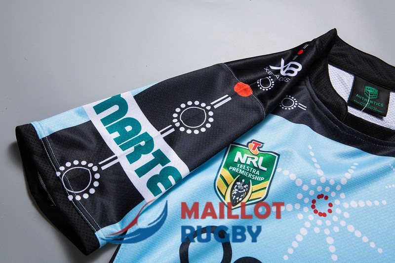 cronulla sutherland sharks rugby maillot commemorative 2019