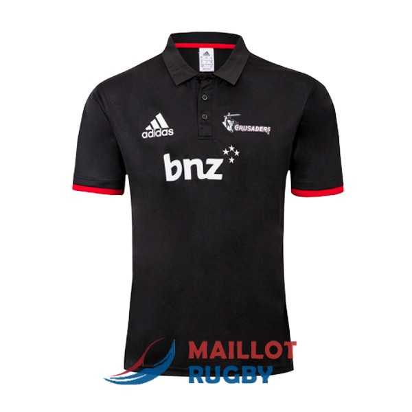 crusaders rugby polo noir 2019