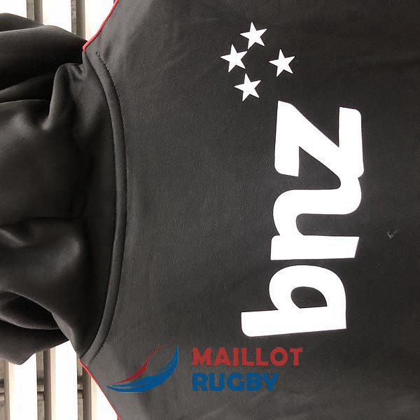 crusaders rugby sweat a capuche noir 2019