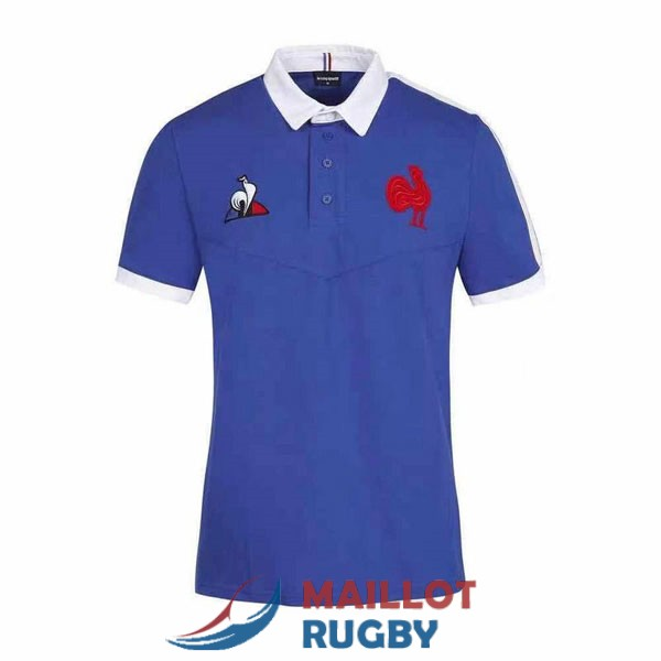 france rugby polo bleu 2021