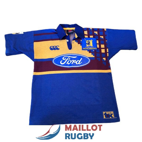highlanders rugby maillot rerto 1997-1999
