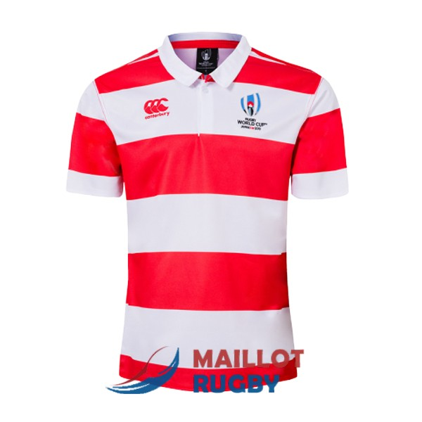 japon rugby polo rouge blanc 2019