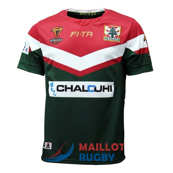 liban rugby maillot RLWC domicile 2017-2018