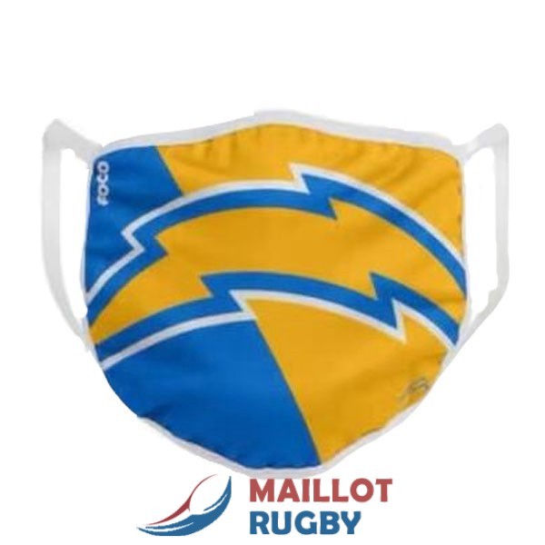 los angeles chargers masques jaune bleu