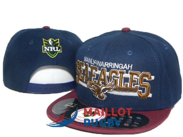 manly sea eagles NRL casquettes bleu rouge