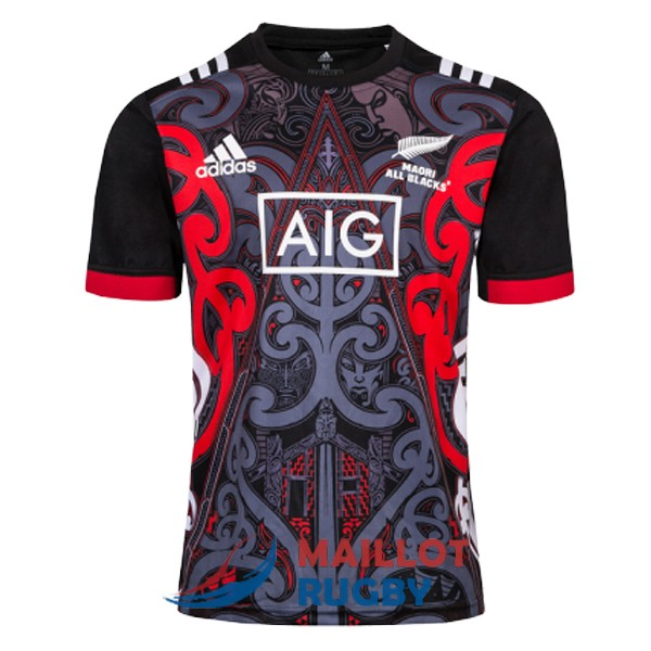 maori all blacks rugby maillot entrainement 2019