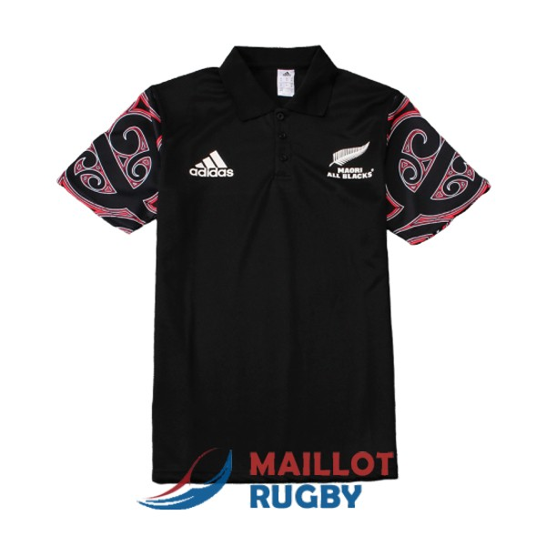 maori all blacks rugby polo noir 2019-2020