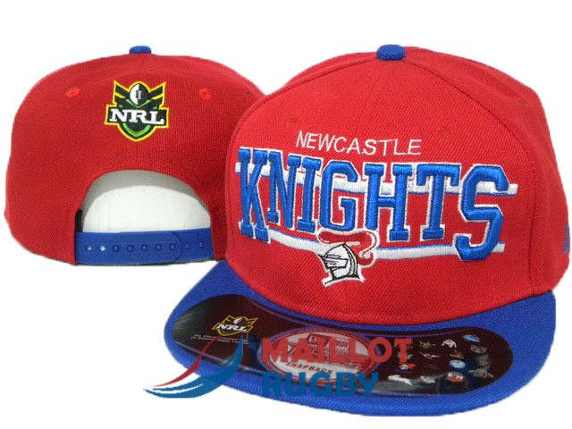 newcastle knights NRL casquettes rouge bleu