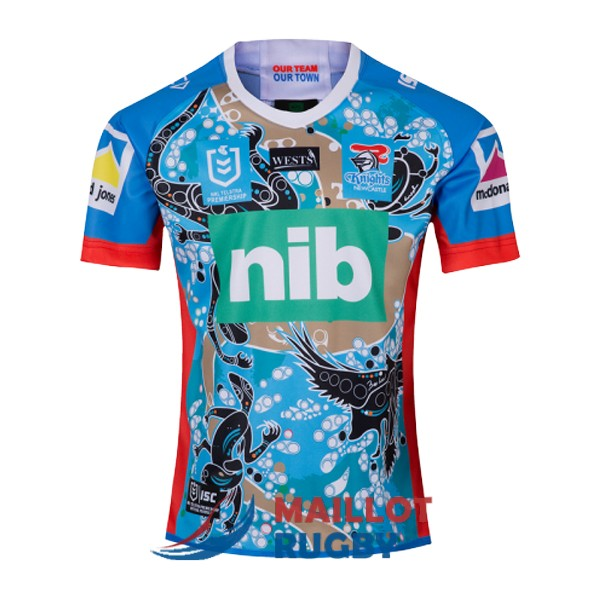 newcastle knights rugby maillot heros violet 2019