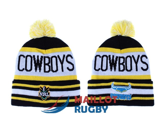 north queensland cowboys NRL bonnets jaune blanc noir