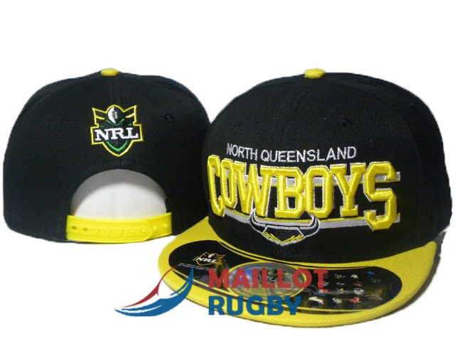 north queensland cowboys NRL casquettes jaune noir B