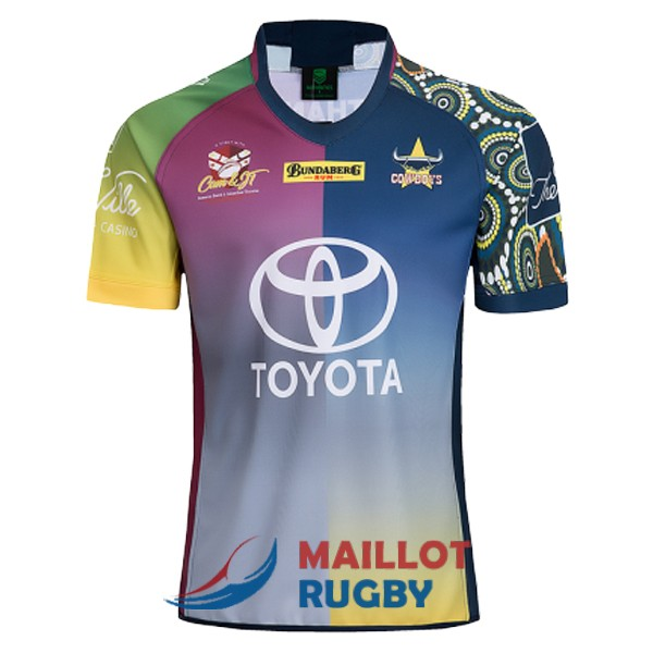 north queensland cowboys rugby maillot commemorative 2018-2019