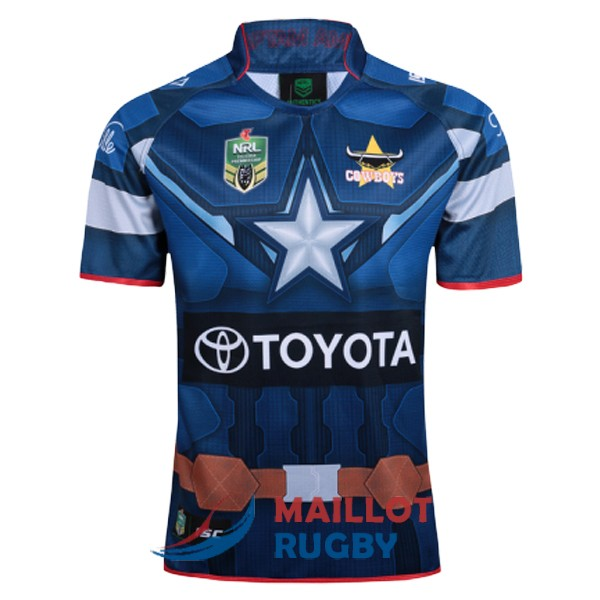 north queensland cowboys rugby maillot edition special territoire capitan america 2017