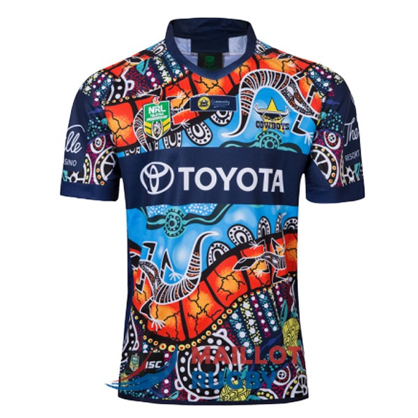 north queensland cowboys rugby maillot indigenous 2019