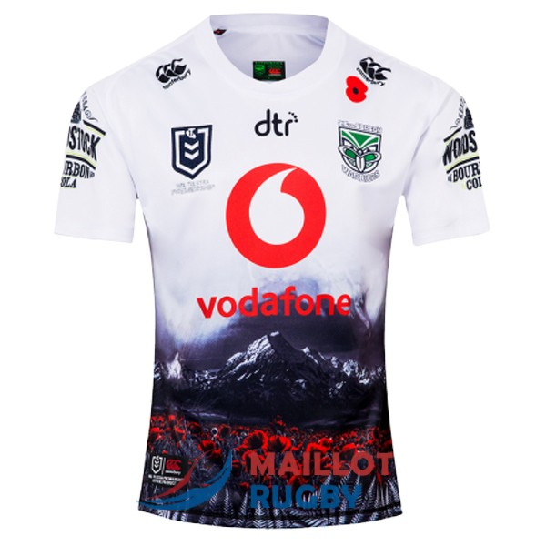 nouvelle-zelande warriors rugby maillot commemorative 2019