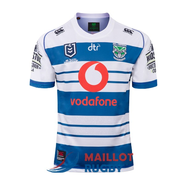 nouvelle-zelande warriors rugby maillot commemorative bleu blanc 2019-2020