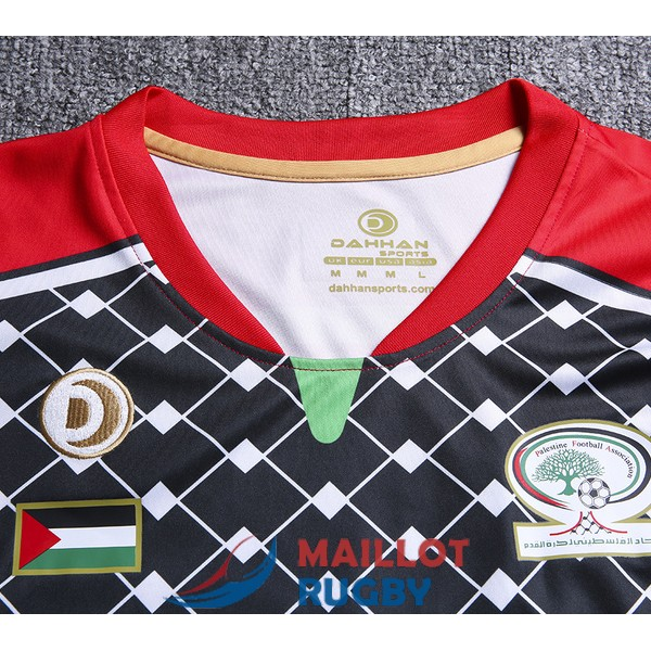 palestine rugby maillot RWC rouge noir