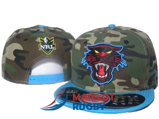 penrith panthers NRL casquettes camouflage bleu