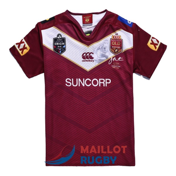 queensland maroons rugby maillot commemorative 2017-2018