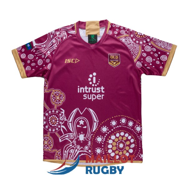 queensland maroons rugby maillot commemorative 2018-2019