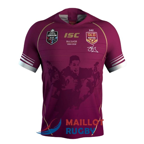 queensland maroons rugby maillot commemorative slater 2019