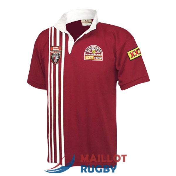 queensland maroons rugby maillot rerto 1998