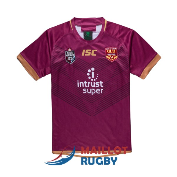 queensland maroons rugby maillot rouge 2019