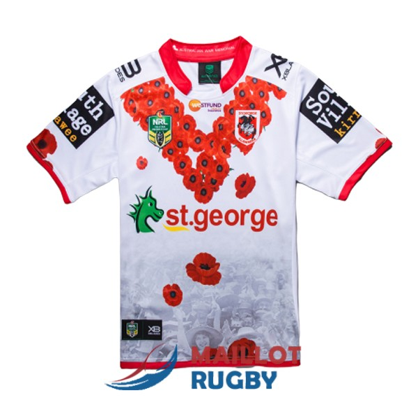 st george illawarra dragons rugby maillot commemorative 2018-2019