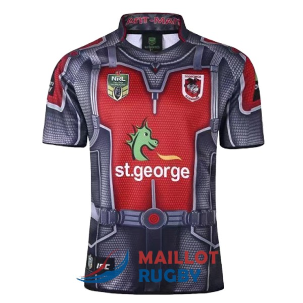 st george illawarra dragons rugby maillot heros 2017-2018