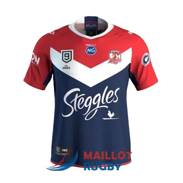 sydney roosters 9s rugby maillot domicile 2020