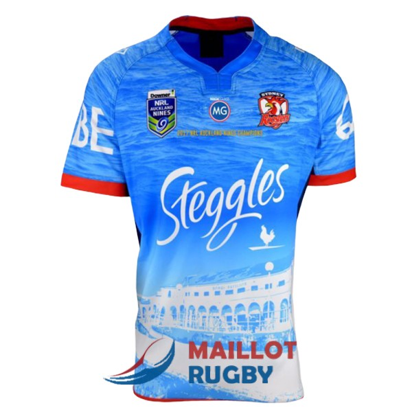 sydney roosters rugby maillot edition special territoire auckland 9s 2017