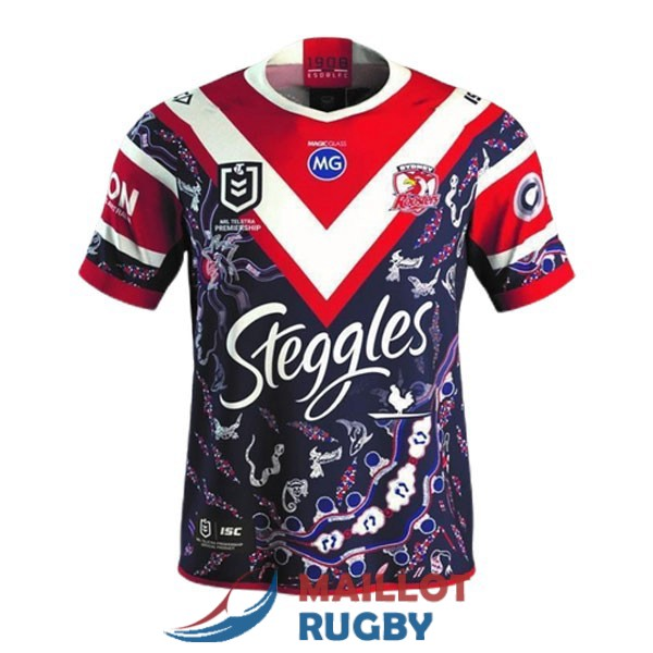 sydney roosters rugby maillot indigenous 2021