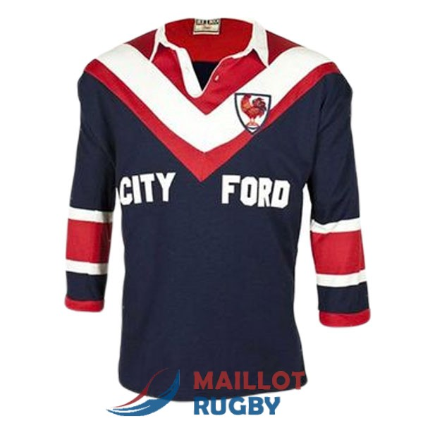 sydney roosters rugby maillot manches longue rerto 1976