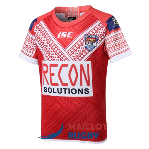 tonga enfant kits rugby maillot rouge 2018-2019 [MY-376]