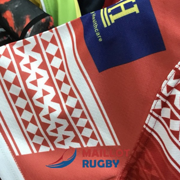 tonga enfant kits rugby maillot rouge 2018-2019
