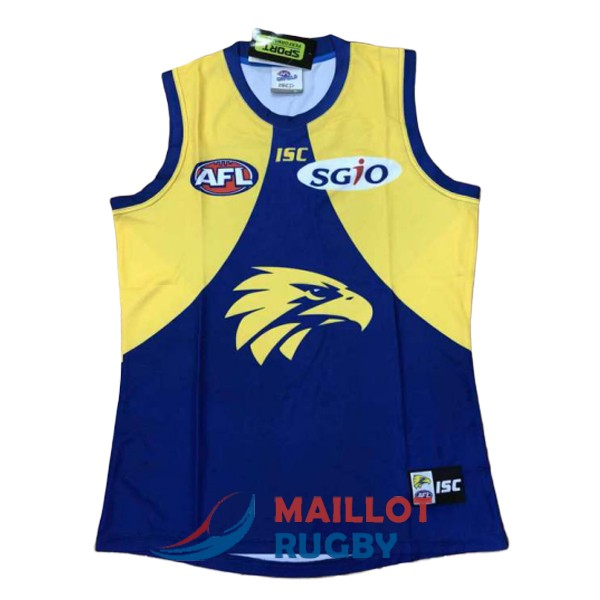 west coast eagles AFL Guernsey maillot jaune bleu 2018