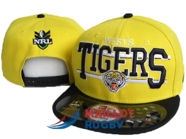 wests tigers NRL casquettes jaune noir [MY-249]