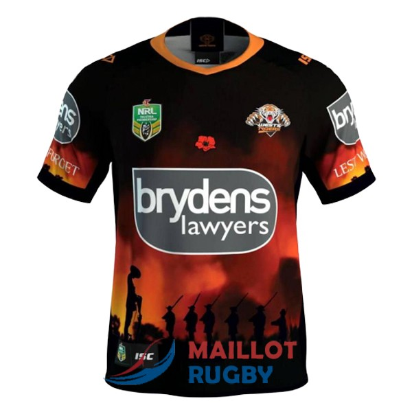 wests tigers rugby maillot commemorative 2018