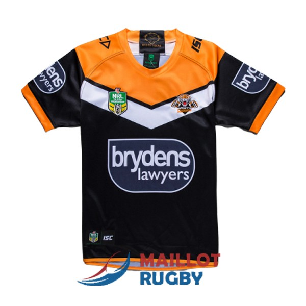 wests tigers rugby maillot domicile 2019