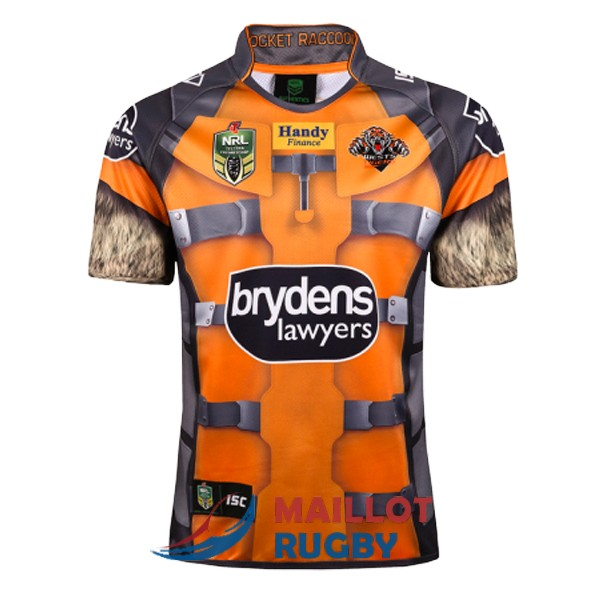 wests tigers rugby maillot heros 2017